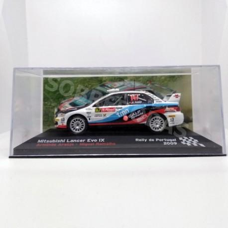 IXO Models 1:43 Mitsubishi Lancer Evo IX (Rally de Portugal 2009)