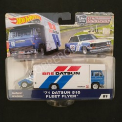 Hot Wheels 1:64 '71 Datsun 510 + Fleet Flyer