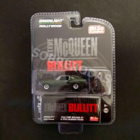 Greenlight 1:64 1968 Ford Mustang GT & Steve McQueen Figure (MiJo Exclusive)
