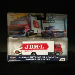 Hot Wheels 1:64 Nissan Skyline HT 2000GT-X + Sakura Sprinter (Team Transporter 8)