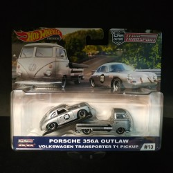 Hot Wheels 1:64 Porsche 356A Outlaw + VW Transporter T1 Pickup (Team Transporter 13)