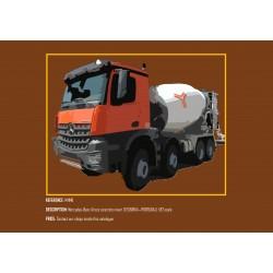 MHM Model Heavy Motor 1:87 Mercedes-Benz Arocs Concrete Mixer (TECNOVIA)