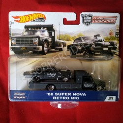 Hot Wheels 1:64 '66 Super Nova + Retro Rig (Team Transporter 7)