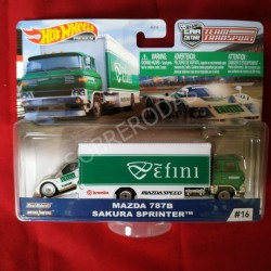 Hot Wheels 1:64 Mazda 787B + Sakura Sprinter (Team Transporter 16)