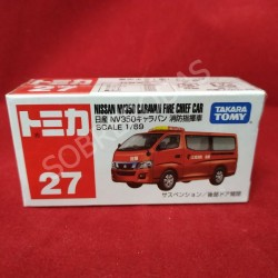 Tomica 1:69 Nissan NV350 Caravan Fire Chief Car