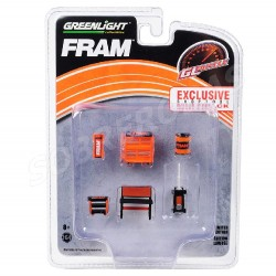 Greenlight 1:64 GL Muscle Shop Tools FRAM Oil Filters (Hobby Exclusive)