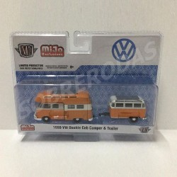 M2 Machines 1:64 1959 VW Double Cab Camper & Trailer