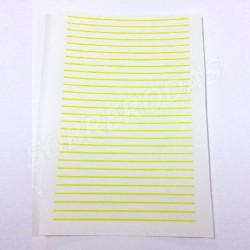 Decalques 1:43 Linhas Amarelas