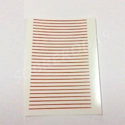 Decalques 1:43 Linhas Vermelhas