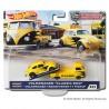 """Hot Wheels 1:64 Volkswagen """"Classic Bug"""" + Volkswagen Transporter T1 Pickup (Team Transport 22)"""