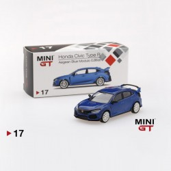 TSM Model Mini GT 1:64 Honda Civic Type R - Aegean Blue Modulo Edition