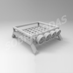 3DR 1:64 4x4 Roof Rack Simples