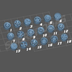 3DR 1:64 4-Pack Set Jantes (à escolha)