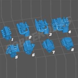 3DR 1:64 4-Pack Set Motores (à escolha)