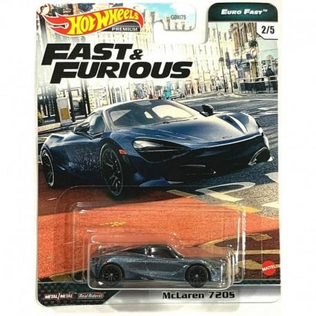 Hot Wheels 1:64 McLaren 720S (Fast & Furious Premium: Euro Fast)
