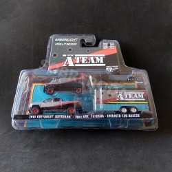 Greenlight 1:64 2015 Chevrolet Silverado + 1983 GMC Vandura + Enclosed Car Hauler (A-Team)