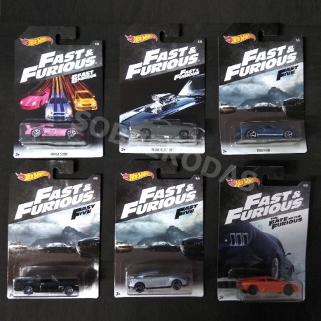 Hot Wheels 1:64 Fast & Furious 2018 Series (Set)