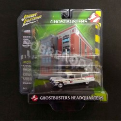 Johnny Lightning 1:64 1959 Cadillac Diorama Ghostbusters Ecto 1A